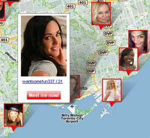Map of Hookups in Ontario