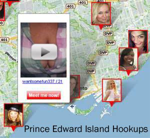 Map of Hookups in Prince Edward Island